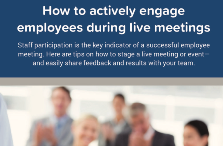 How to Actively Engage Employees During Live Meetings