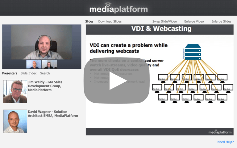 Citrix-Ready Webcasting with MediaPlatform