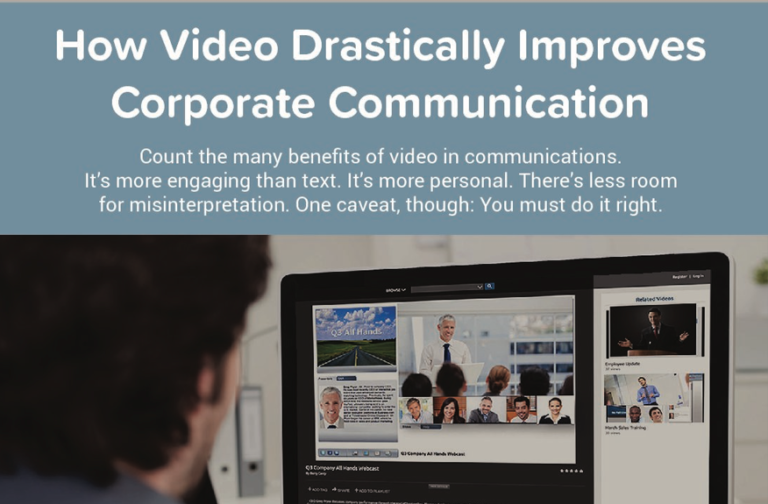 How Video Drastically Improves Corporate Communications