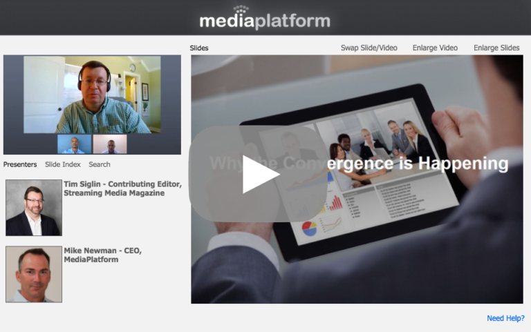 Video Webcasting Meets Unified Communications