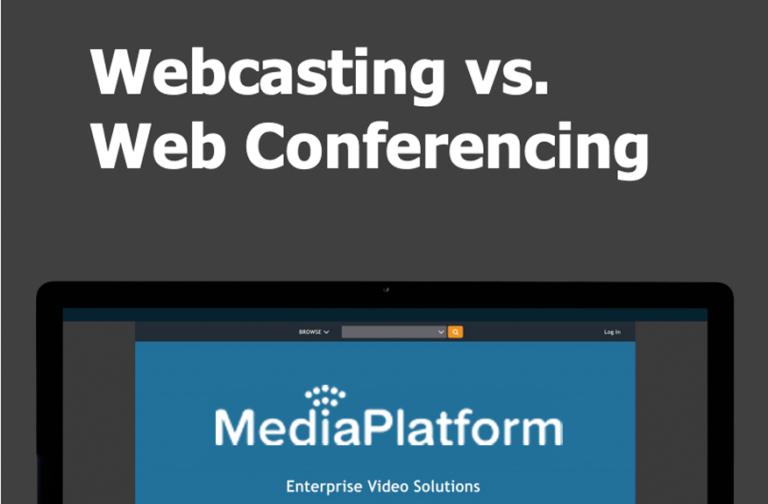 Webcasting vs. Webconferencing