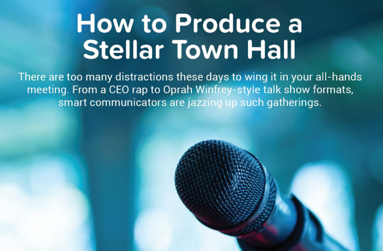 How to Produce a Stellar Town Hall