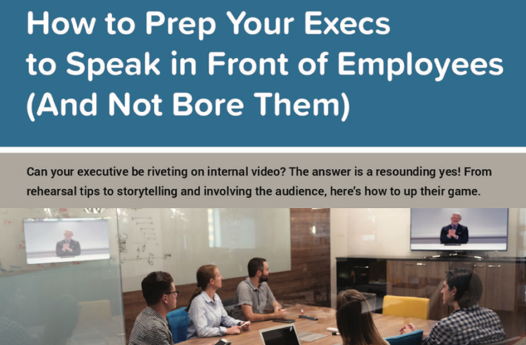 How to Prep Your Execs to Speak in Front of Employees (And Not Bore Them)