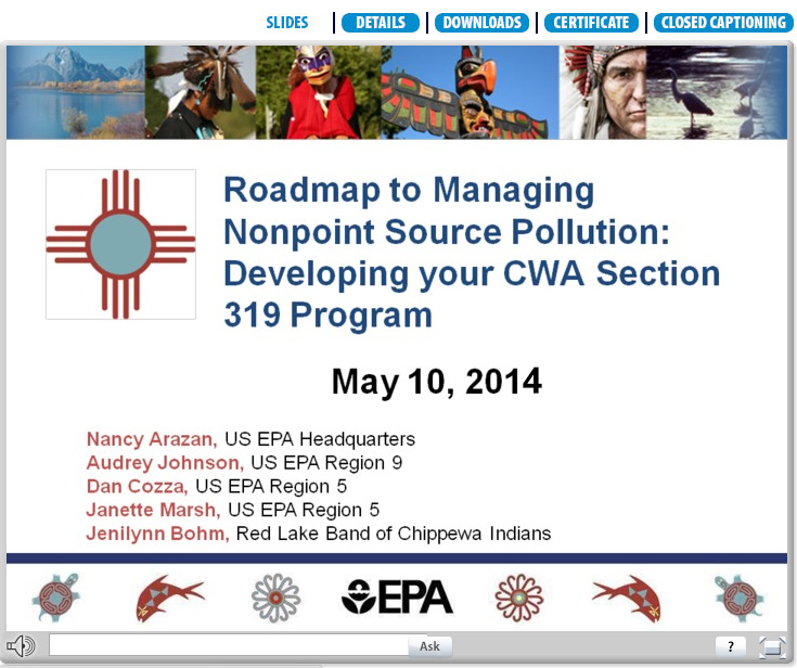 Roadmap to managing Nonpoin Source Pollution